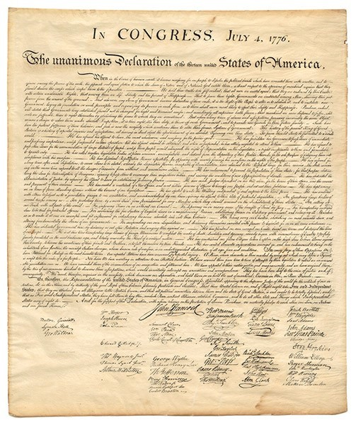 Parchment Declaration of Independence Poster