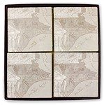 Marble Tile Map Coasters