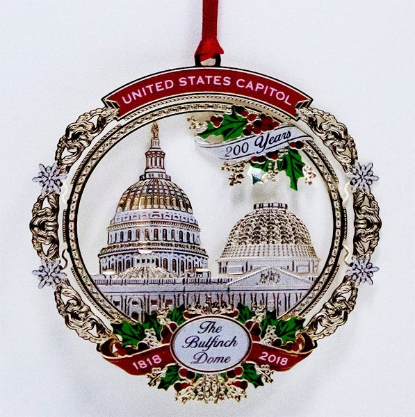 2018 Bulfinch Dome Ornament