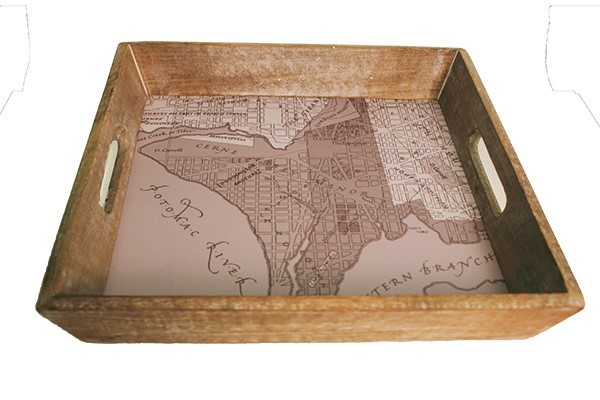 DC Map Serving Tray