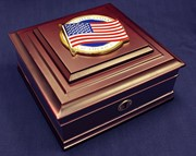 Flag Medallion Desktop Box