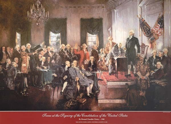 Signing of the Constitution (Unframed)