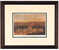 Kiplinger Print: View of Washington City 1871 (Framed)
