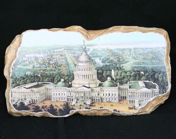 Capitol Fresco Inspired Wall Plaque
