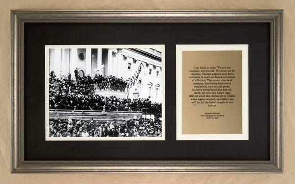 Framed Lincoln Inaugural Print