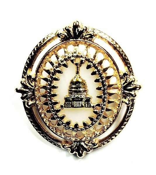 Capitol Brooch with Mother of Pearl