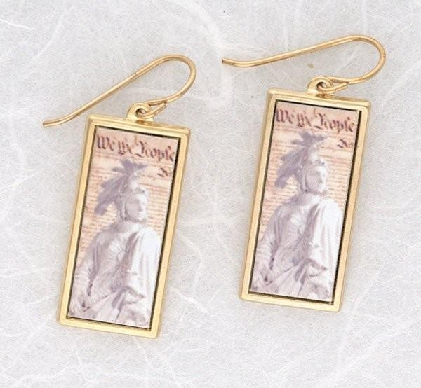 Constitution Freedom Earrings