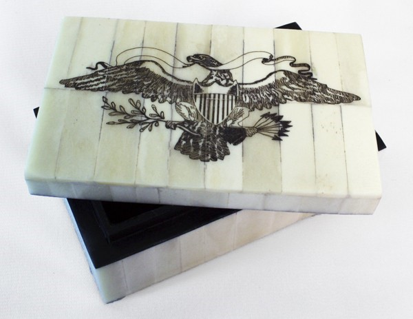 Eagle Scrimshaw Box