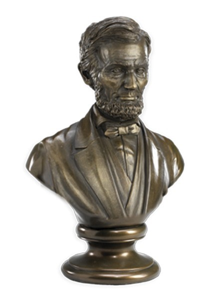 "3"" Bronze Lincoln Bust"