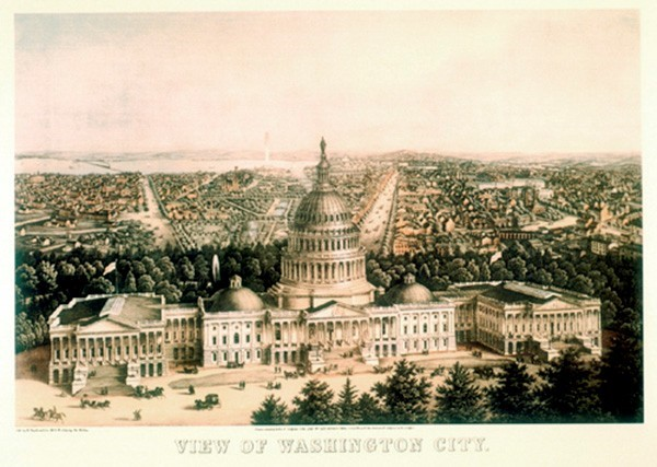 Washington DC 1871 Print