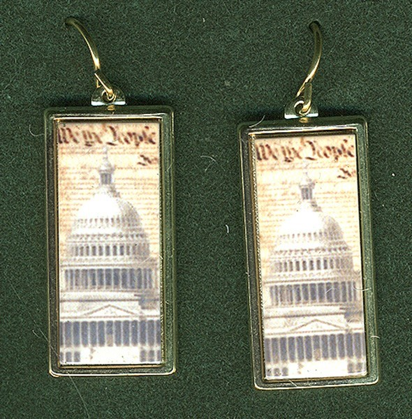 Constitution w/Dome Earrings