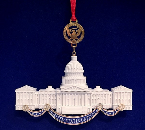 Marble Capitol Building Ornament