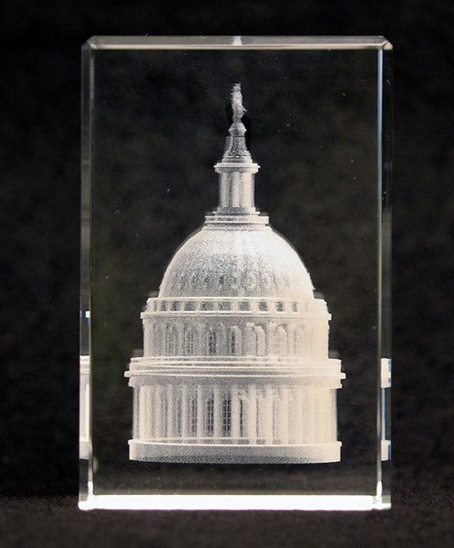 Crystal Capitol Dome Paperweight